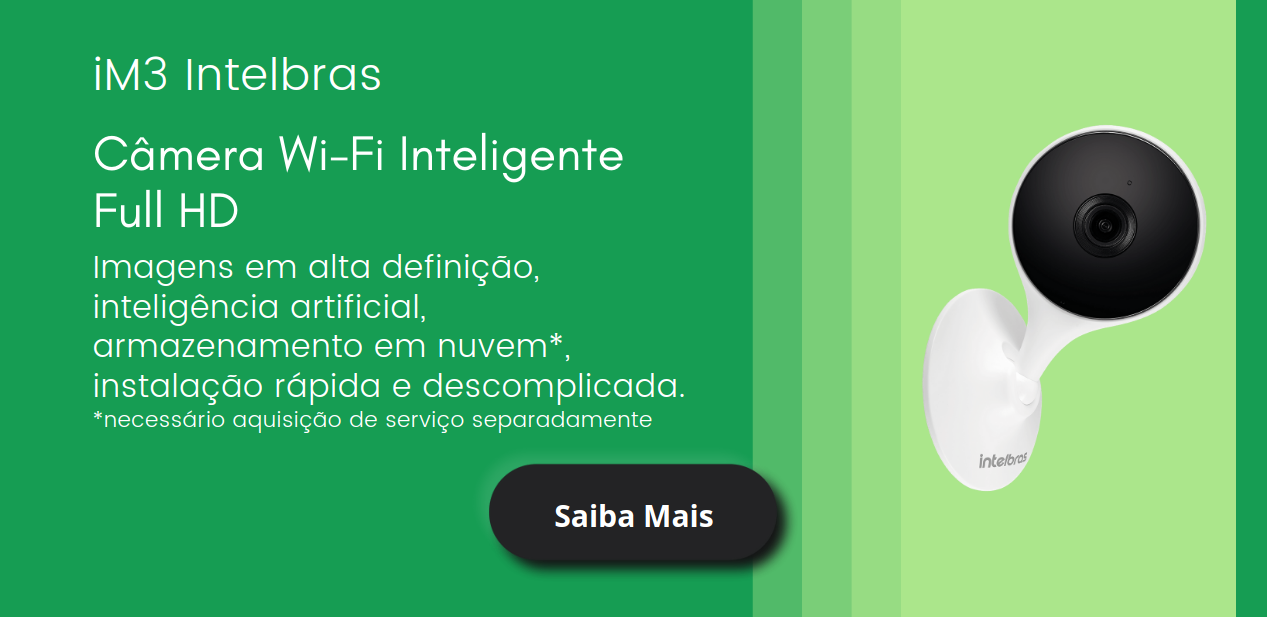 Câmera Wifi Inteligente iM3 Intelbras