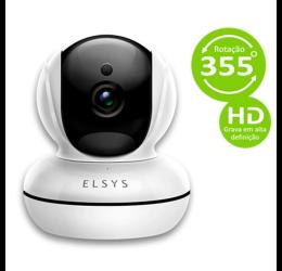 Câmera Wifi Interna Rotacional HD 1MP IR 10m MicroSd Onvif ESC-WR2 - Elsys