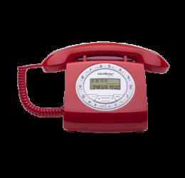 Telefone Com Fio Com Identificador De Chamadas Retrô Vermelho - Intelbras TC 8312