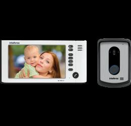"Kit Video Porteiro Tela 7"" E Viva Voz - Intelbras IV 7010 HF Branco"