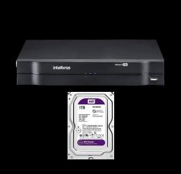 DVR MULTI HD 4 CANAIS HD 720P - INTELBRAS MHDX 1104 C/ HD 1TB WD PURPLE
