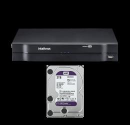 DVR MULTI HD 4 CANAIS HD 720P - INTELBRAS MHDX 1104 C/ HD 2TB WD PURPLE