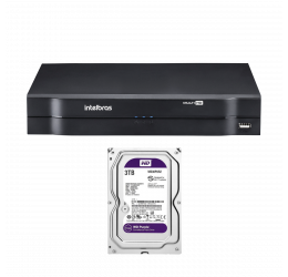 DVR MULTI HD 4 CANAIS HD 720P - INTELBRAS MHDX 1104 C/ HD 3TB WD PURPLE