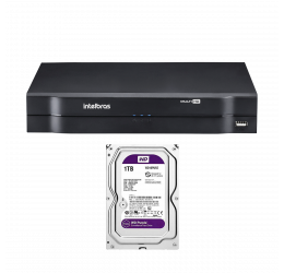 DVR MULTI HD 16 CANAIS HD 720P H265 - INTELBRAS MHDX 1116 C/ HD 1TB WD PURPLE