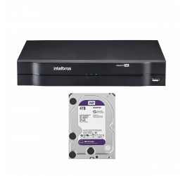 DVR MULTI HD 16 CANAIS HD 720P H265 - INTELBRAS MHDX 1116 C/ HD 4TB WD PURPLE