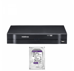 DVR MULTI HD 16 CANAIS HD 720P H265 - INTELBRAS MHDX 1116 C/ HD 8TB WD PURPLE