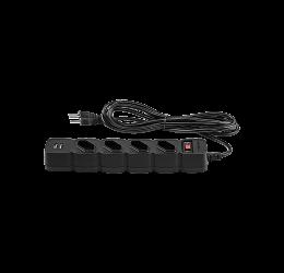 FILTRO DE LINHA 4 TOMADAS + 2 USB PRETO - INTELBRAS EPE 204 USB
