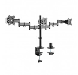 "Suporte De Mesa Articulado Para 3 Monitores De 13"" A 27"" - Brasforma SBRM731"