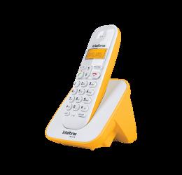 TELEFONE SEM FIO COM IDENTIFICADOR DE CHAMADAS - INTELBRAS TS 3110 BRANCO/AMARELO