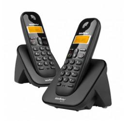 TELEFONE SEM FIO BASE + 1 RAMAL - INTELBRAS TS 3112 PRETO