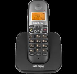 TELEFONE SEM FIO COM IDENTIFICADOR E ENTRADA P/ HEADSET - INTELBRAS TS 5120 PRETO