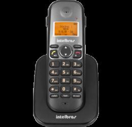TELEFONE SEM FIO (RAMAL) COM IDENTIFICADOR E ENTRADA P/ HEADSET - INTELBRAS TS 5121 PRETO