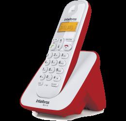 TELEFONE SEM FIO COM IDENTIFICADOR DE CHAMADAS - INTELBRAS TS 3110 BRANCO/VERMELHO