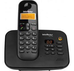 TELEFONE SEM FIO BASE C/ SECRETÁRIA ELETRÔNICA - INTELBRAS TS 3130 PRETO