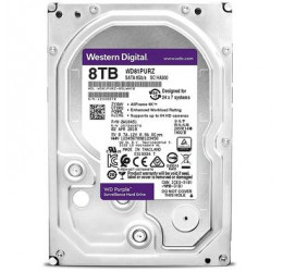 HD INTERNO WD PURPLE 8TB SATA 6GBPS 256MB - WESTERN DIGITAL WD81PURZ